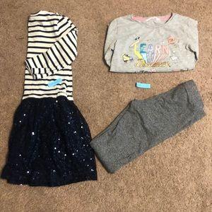Girl Gap dress, H & M shirt & pants